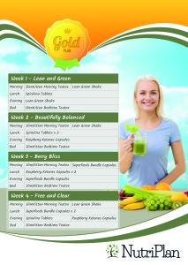 Nutriplan28 Gold Plan Calendar